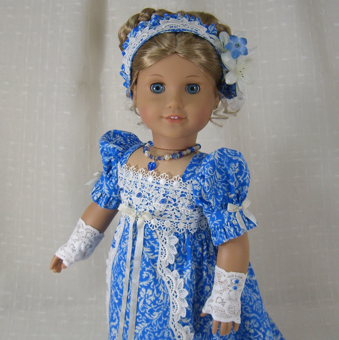 Regency Dress in Blue