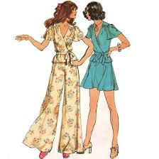 blog 1970 pattern prom elepant pants and top