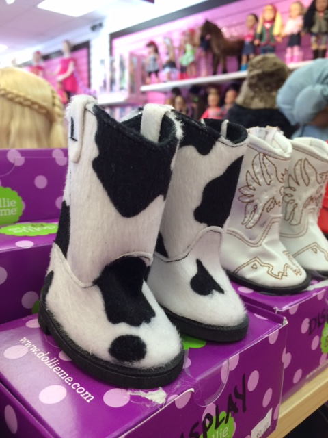 blog dollie and me black white fur boots