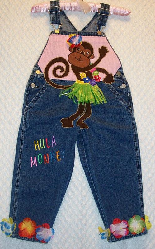 hula monkey full front