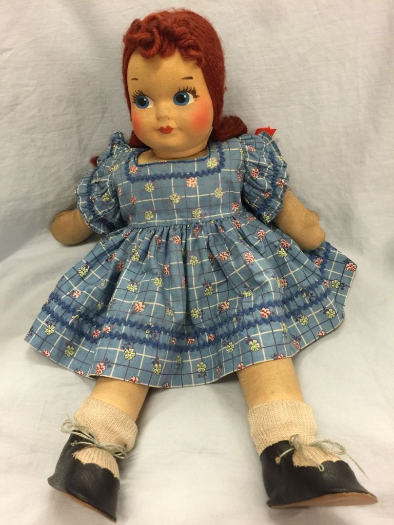 Blog Vintage red headed doll sent to me from Becky