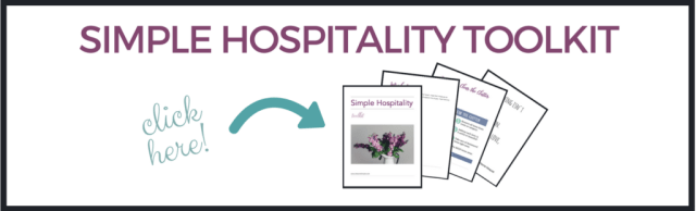 Simplify your hospitality during the holidays. This post and freebie will help!