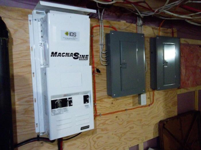 Onduleur de courant Magnum installé par IDS Énergie