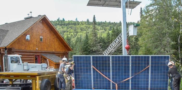 Installation de panneaux solaires Québec Saint-Côme