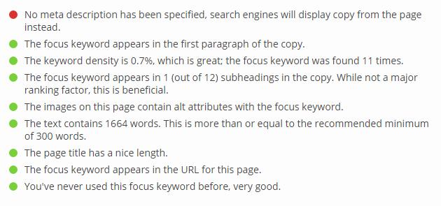 Analisis WordPress SEO Yoast