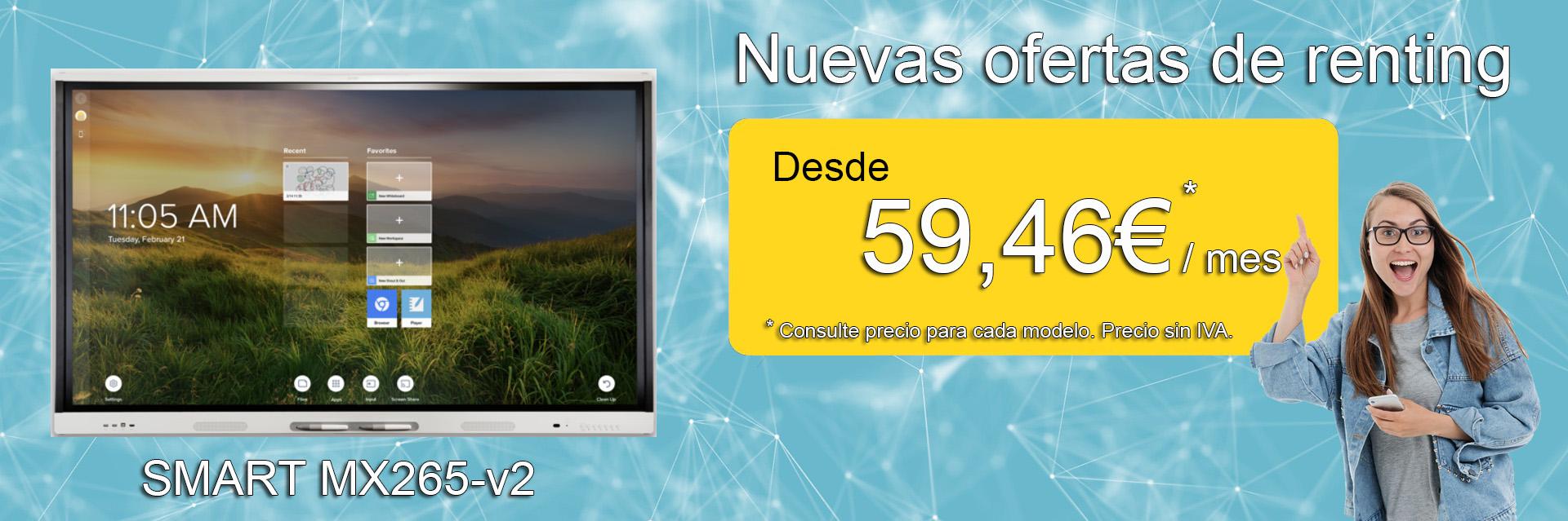 Ofertas de renting Smart MX265-V2