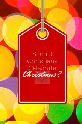 Should Christians