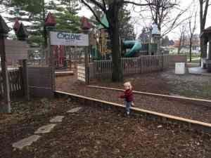 He loves this park! {daddy dressed me!}