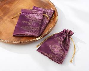 Amethyst Jewel Favor Bags