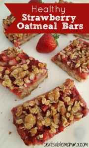 Healthy Strawberry Oatmeal Bars and other strawberry recipes at idyllicpursuit.com