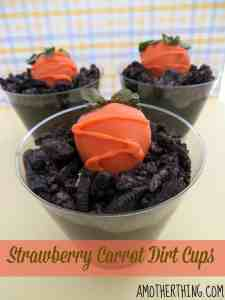 Strawberry Carrot Dirt Cups and other strawberry recipes at www.idyllicpursuit.com