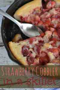 Strawberry Cobbler in a Skillet and other strawberry recipes at idyllicpursuit.com