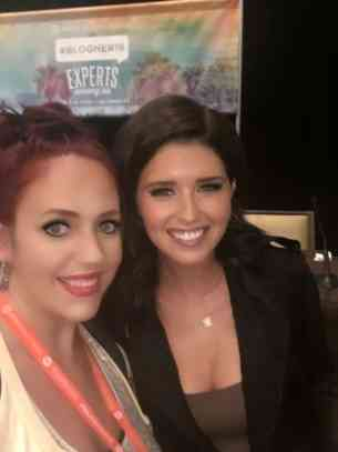 Kathy Haan and Katherine Schwarzenegger at BlogHer16