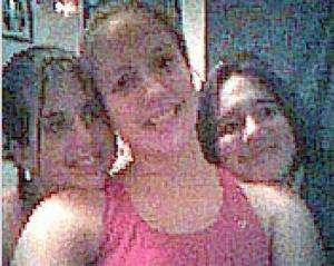 Nikki Dudley, Kathy Haan, and Melissa Adams in High School