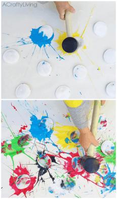 Paint Splat Kids Craft at idyllicpursuit.com
