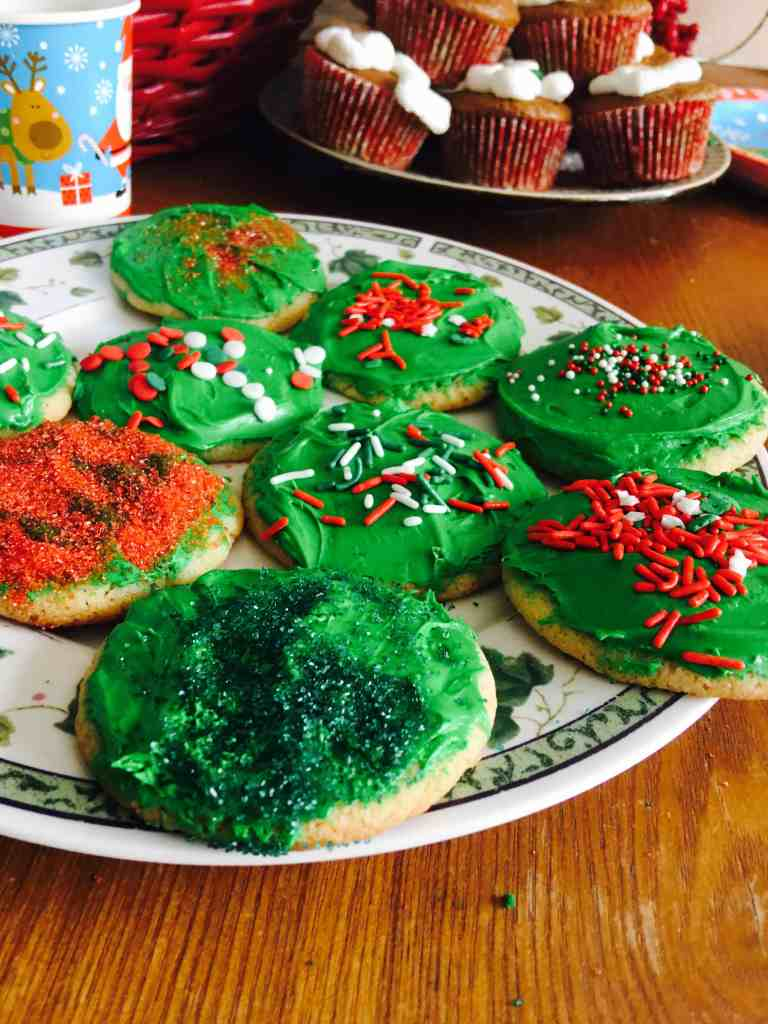 Christmas cookies decorated with care for our Christmas party