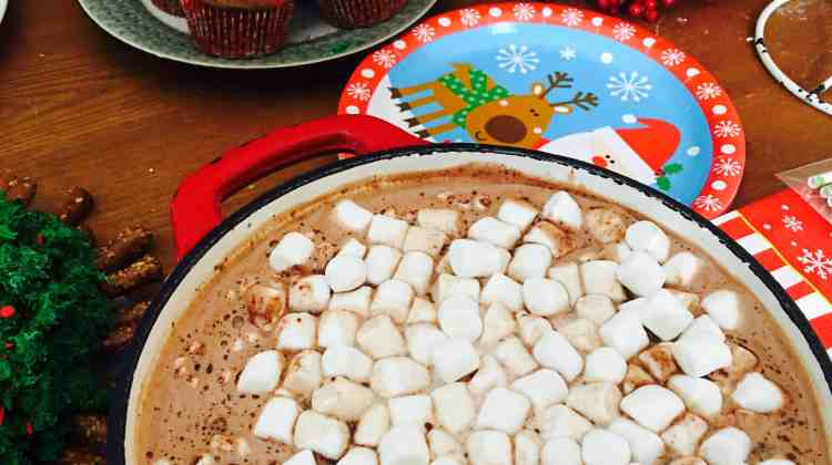 Nutella Hot Chocolate at our Christmas Party
