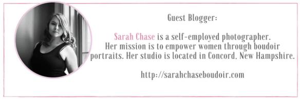 Sarah Chase Guest Blogger at IdyllicPursuit.com talking about body love through boudoir