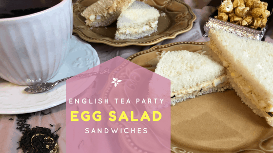English Tea Party Egg Salad Sandwiches recipe at idyllicpursuit.com