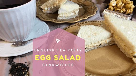 English Tea Party Egg Salad Sandwiches recipe at idyllicpursuit.com