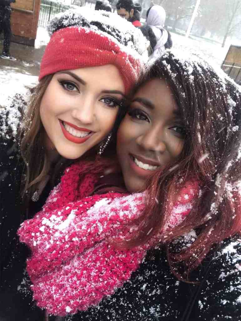 Enjoying a beautiful snow in London with X-Factor's Rachel-Yvonne Clarke! idyllicpursuit.com