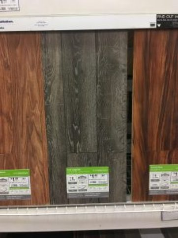Shopping for flooring at Lowe's