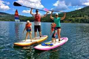 Stand up paddle boarding in BC