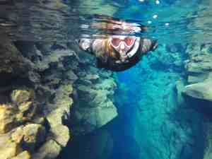 Snorkeling in the Silfra Fissure