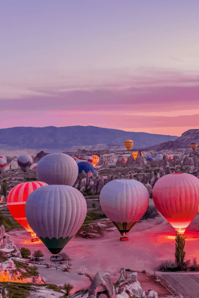 Turkey Pictures - Cappadocia hot air balloons