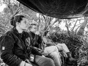 Sitting at the waterhole at the Maasai Mara Enonkishi Conservancy