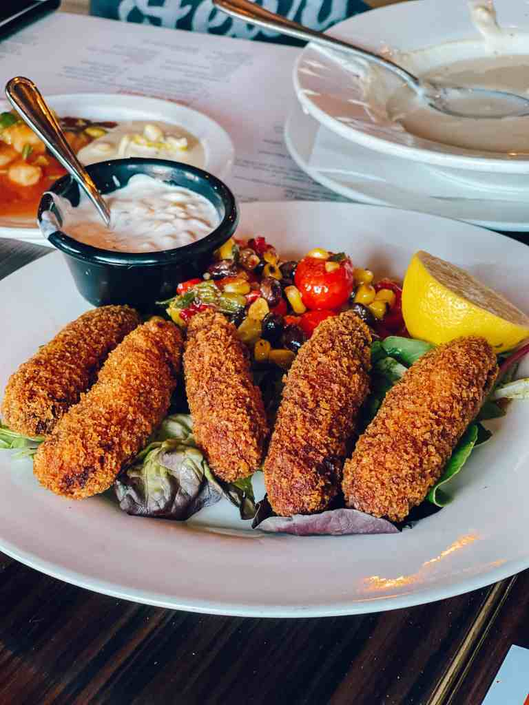 Salmon Croquettes at Sabor in Wichita (South Central Kansas)