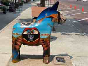 Picture of a painted Dala horse