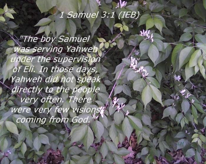 1 Samuel 3:1 Image