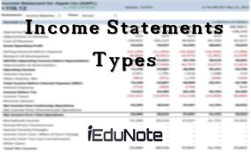 Types of Income Statement