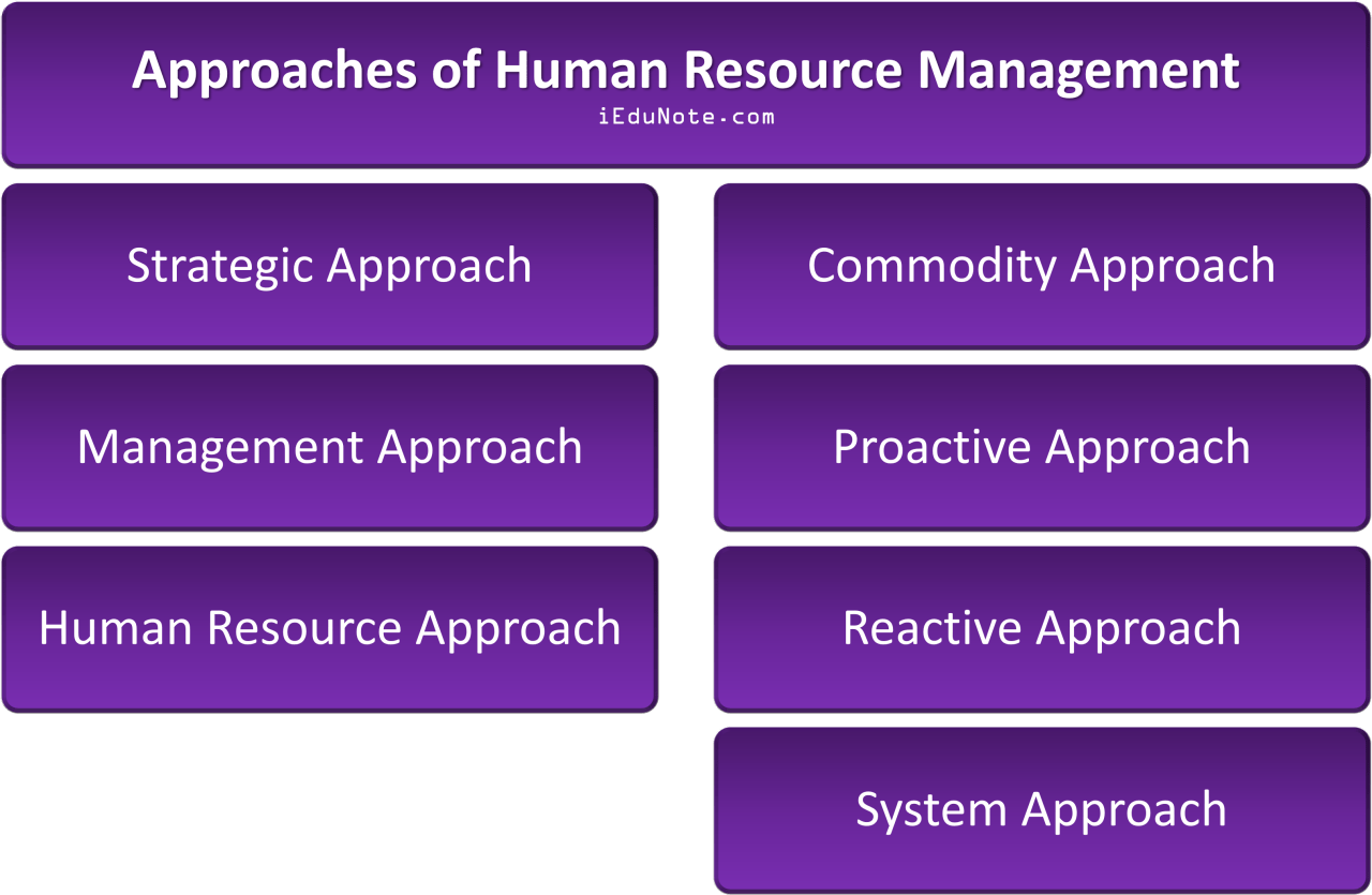 Approaches of Human Resource Management (HRM)