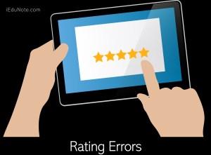Rating Errors