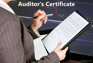 Auditor's Certificate