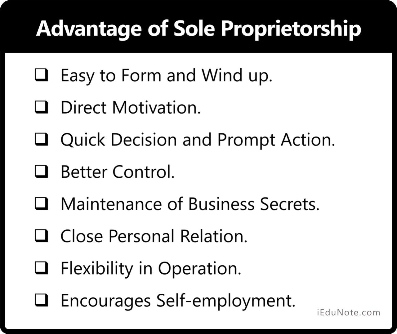Advantage of Sole Proprietorship - What gives Sole Proprietor an Advantage Over Giants?