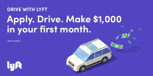 Make $1,000 guaranteed in all cities with Lyft