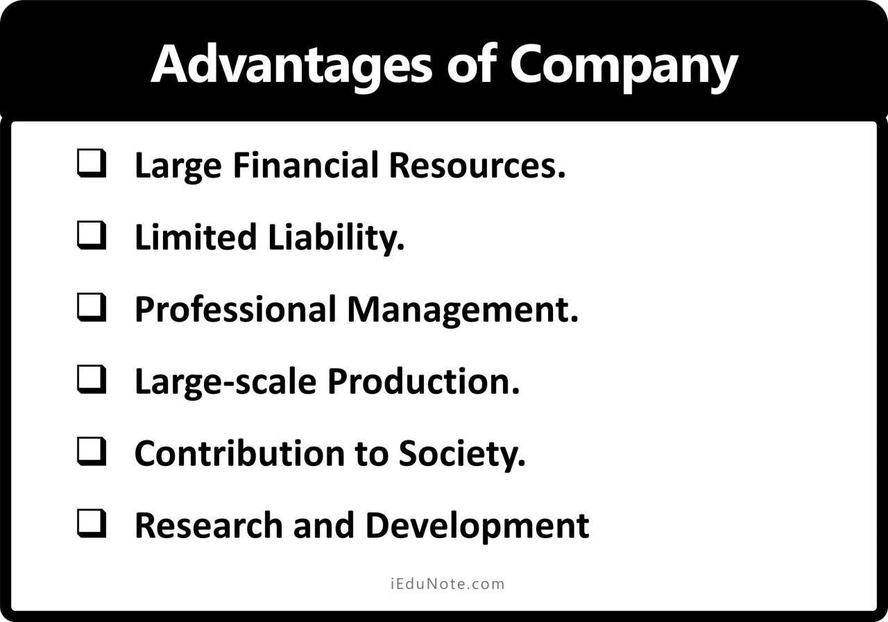 Advantages of Company