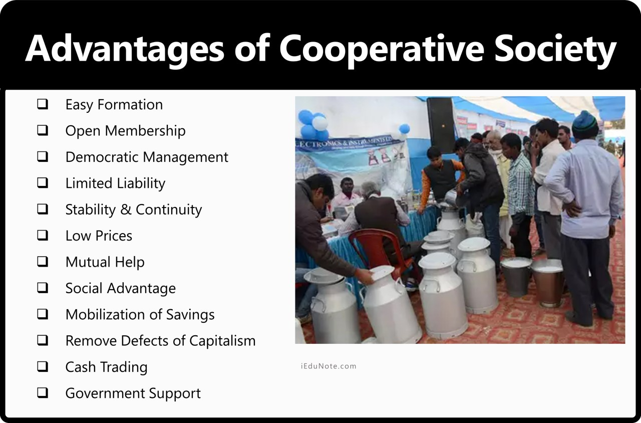 Merits or Advantages of Cooperative Society