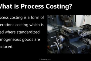 Process Costing: Definition, Features