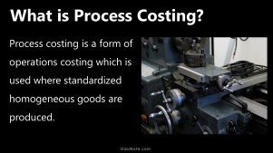 what is process costing
