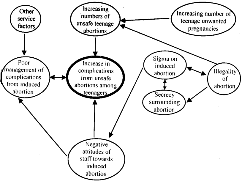 example framework of analyzing the determinants of complications for unsafe pregnancy