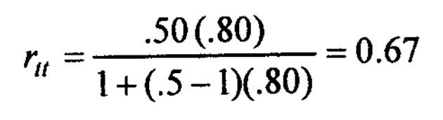 Spearman-Brown prophecy formula 5