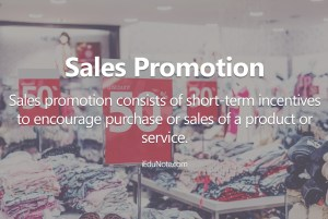 sales promotion meaning