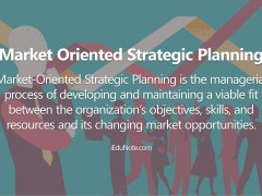 Market Oriented Strategic Planning