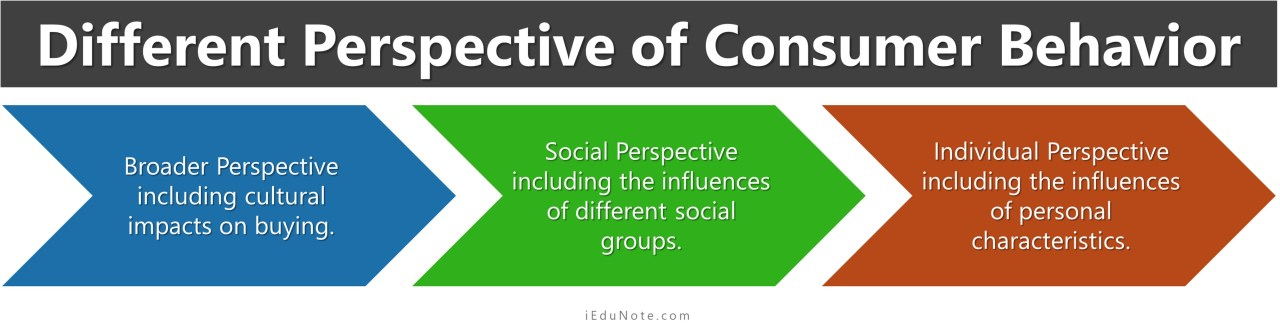 different perspective of consumer behavior