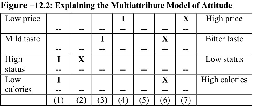 multi attribute model of attitude
