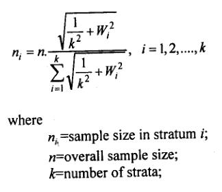 kish allocation formula